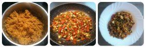 Paella vegana de quinoa y lentejas - Receta paso a paso
