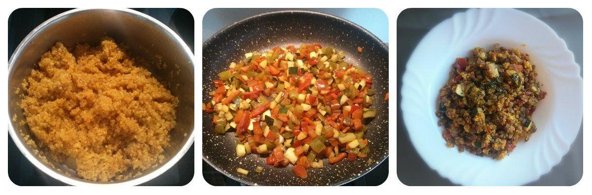 Paella vegana de quinoa y lentejas receta de idea vegana for Cuanto se cocina la quinoa