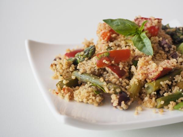 Receta facil de cous cous a base de verduras