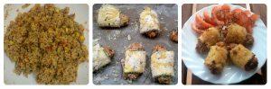 Como preparar rollitos de calabacín y carne vegetal
