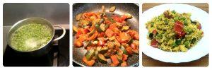 Arroz vegano con especias y verduras