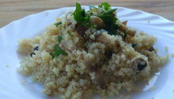 Risotto vegano de quinoa y setas