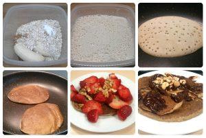 Cómo preparar tortitas americanas de avena y platano, sin lactosa, sin huevos y sin azúcar