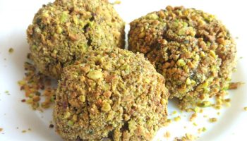 Albóndigas veganas de soja con berenjena y pistachos
