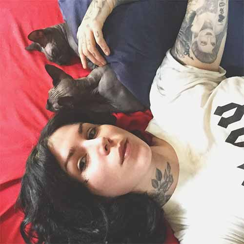 Kat Von D y sus gatos