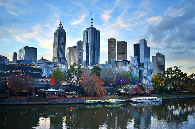 Skyline de Melbourne desde Southbank