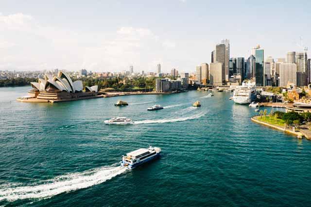 Opera de Sydney y su Skyline