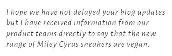 Converse confirma que las zapatillas de Miley Cyrus son veganas