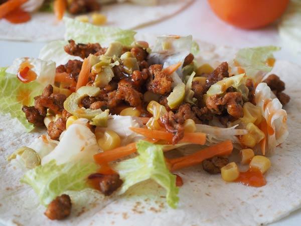 Cómo preparar kebab vegano de soja picante