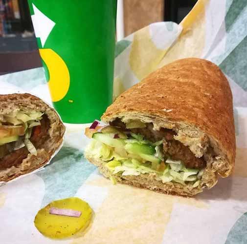 El sandwich vegano de Subway