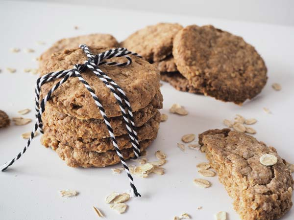 Receta fácil de galletas de avenas integrales