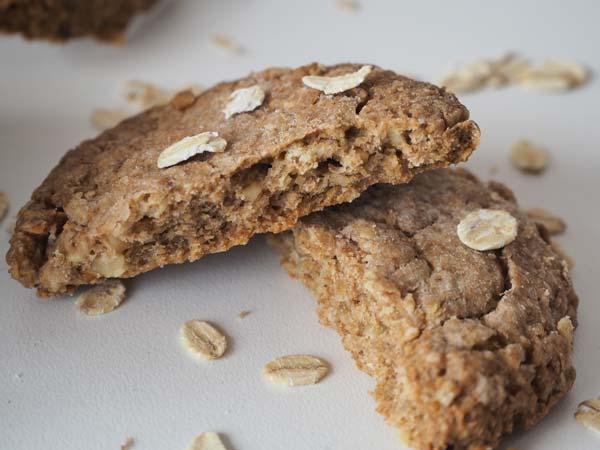 Cómo hacer galletas de avena con harina integral y nueces