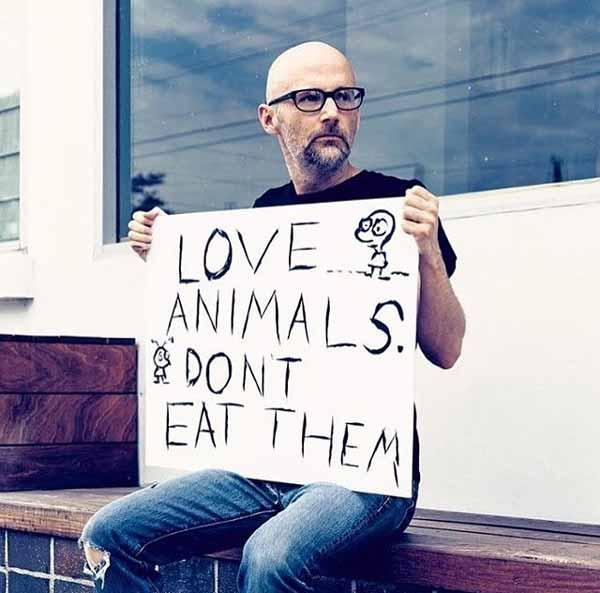 El músico Moby es vegano y activista