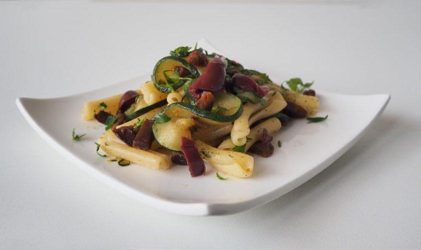 Pasta con chorizo vegano