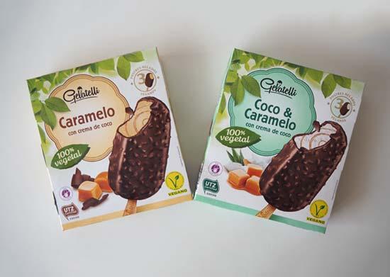 Helados veganos coco-caramelo de Lidl