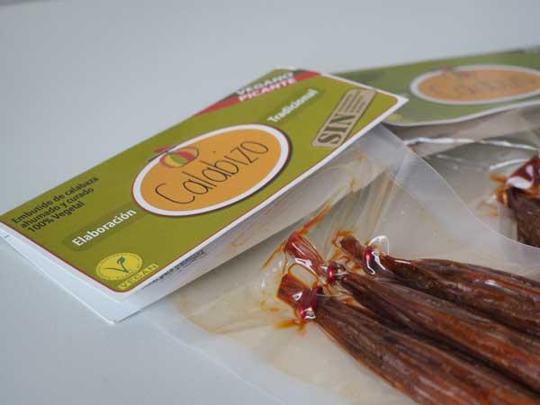 Chorizo vegano Calabizo hecho en Galicia