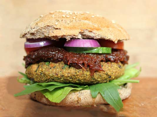 Hamburguesa vegetal sin carne animal