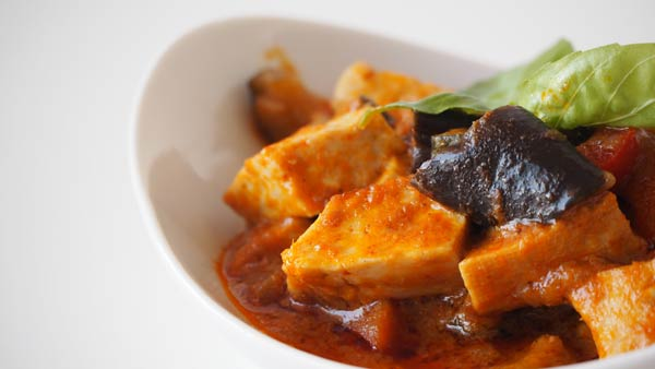 Receta con tofu y curry