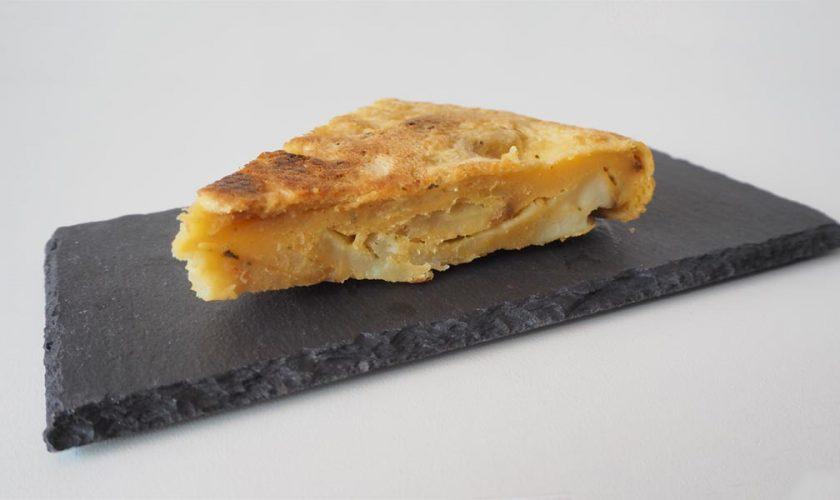Tortilla de patatas vegana sin huevo