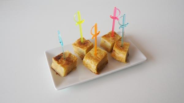 Tortilla de patatas sin gluten y sin huevo