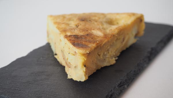 Tortilla de patatas vegana con maicena