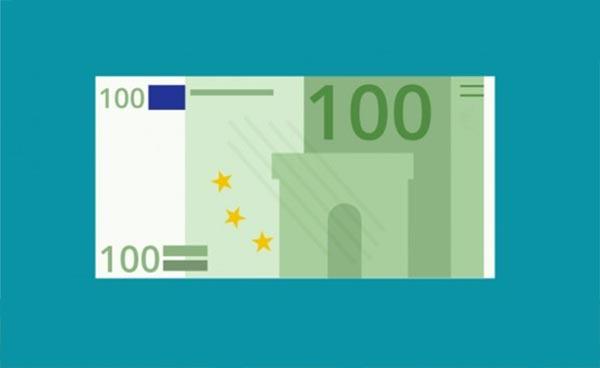 Los Euros son veganos (papel de algodón)