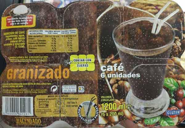 Granizado de café Hacendado (Mercadona)