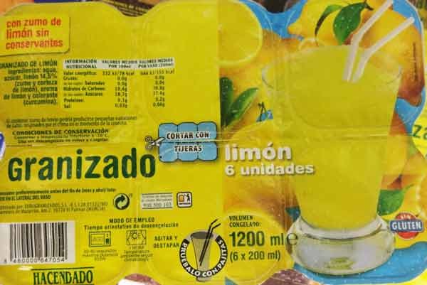 Granizado De Limon Mercadona Precio Aterido Granizado Limon Potentado Put Away 6 U 1200 Cc
