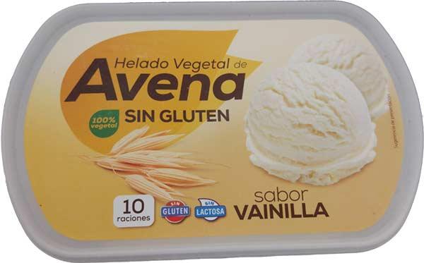 Helado vegano de avena, sabor vainilla, de Hacendado/Mercadona.