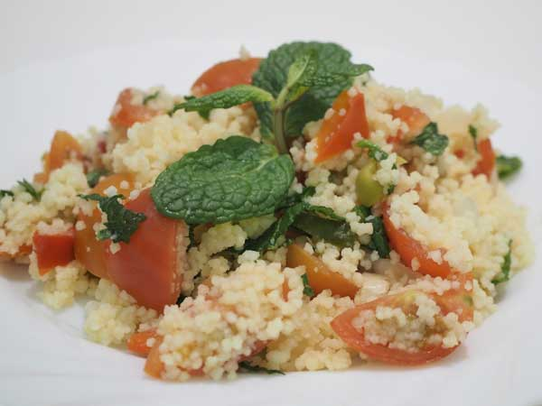 Cómo hacer tabule arabe de cous cous, bulgur o quinoa
