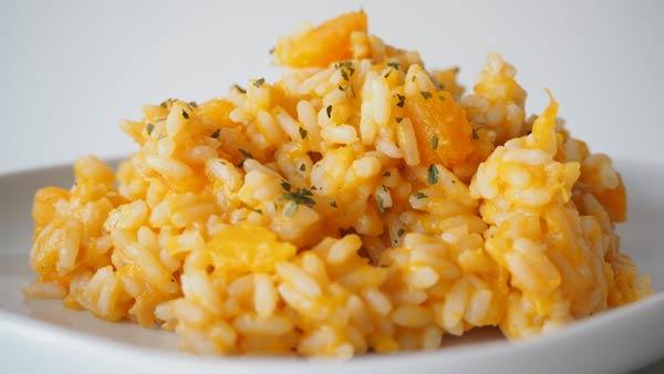 Receta italiana de arroz con zapallo