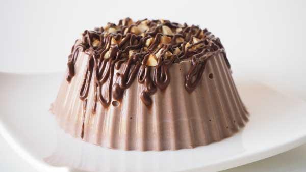 Flan vegano casero de chocolate sin gluten