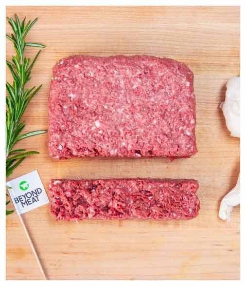 Carne molida vegana de Beyond Meat (Beyond Beef)
