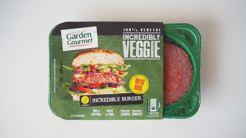 Caja Incredible Burger Garden Gourmet