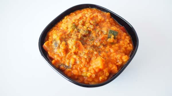 Receta vegana de lentejas rojas con curry