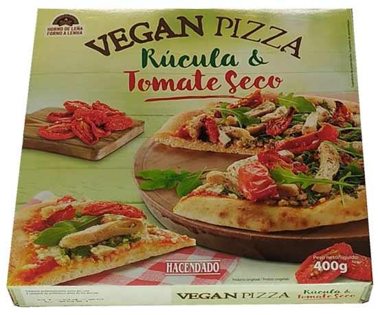Pizza vegana Hacendado al horno de leña