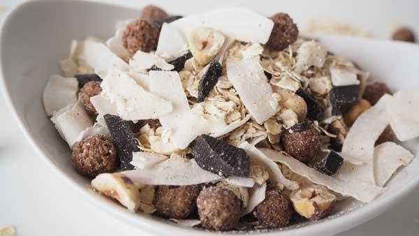 Cómo hacer muesli casero de avena y cacao
