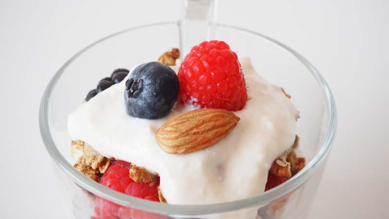 Parfait vegetal saludable sin azúcar