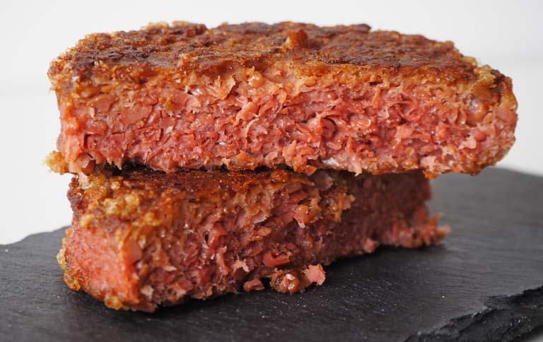 Textura y efecto sangrado del Beyond Burger