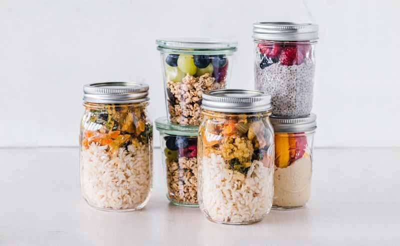 Potes de vidrio reutilizables - Alternativa al plástico