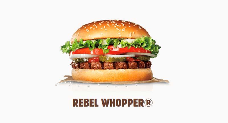 Rebel Whopper: la hamburguesa vegana de Burger King llega a España