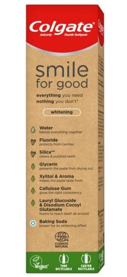 Caja Smile for Good Whitening - Colgate para veganos