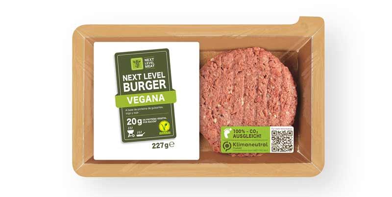 Caja hamburguesa vegana Next Level de Lidl