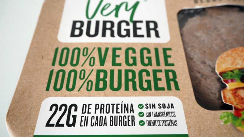 Very Burger alta en proteínas